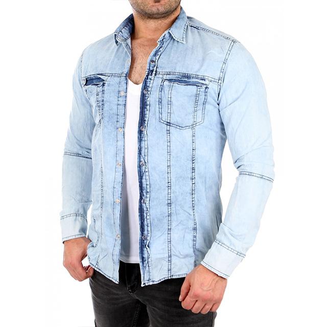 jeanshemd kombinieren mann wie kombiniert ihr richtig. Black Bedroom Furniture Sets. Home Design Ideas