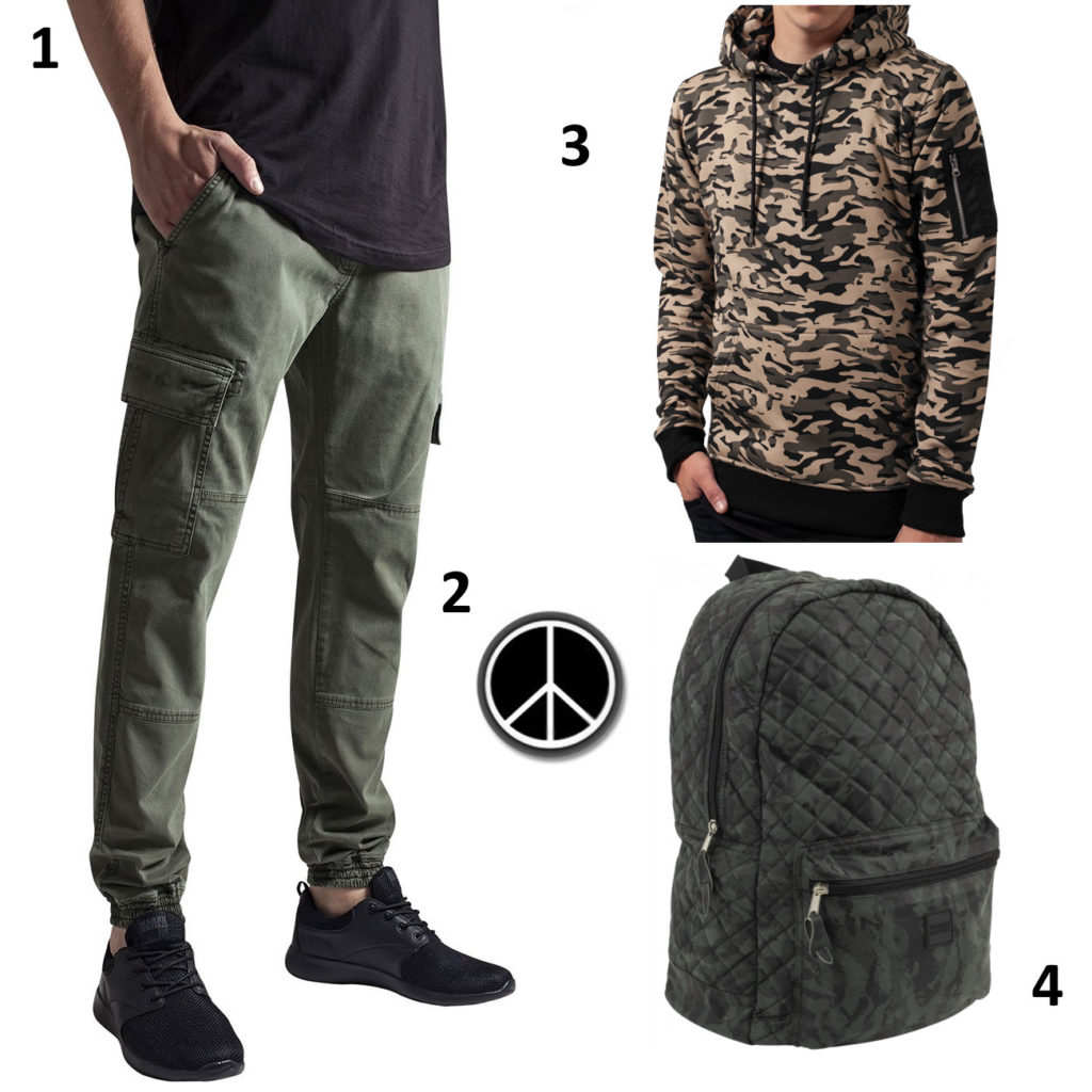 Camouflage Kleidung Outfit
