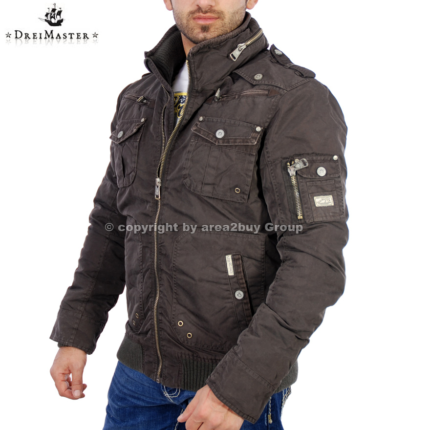 geile dreimaster herren winterjacke jacke d 0083 brown neu ebay. Black Bedroom Furniture Sets. Home Design Ideas
