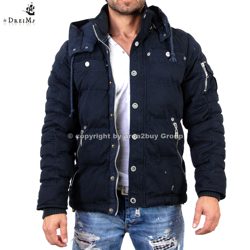 geile dreimaster parker winterjacke jacke d 0057 navy ebay. Black Bedroom Furniture Sets. Home Design Ideas