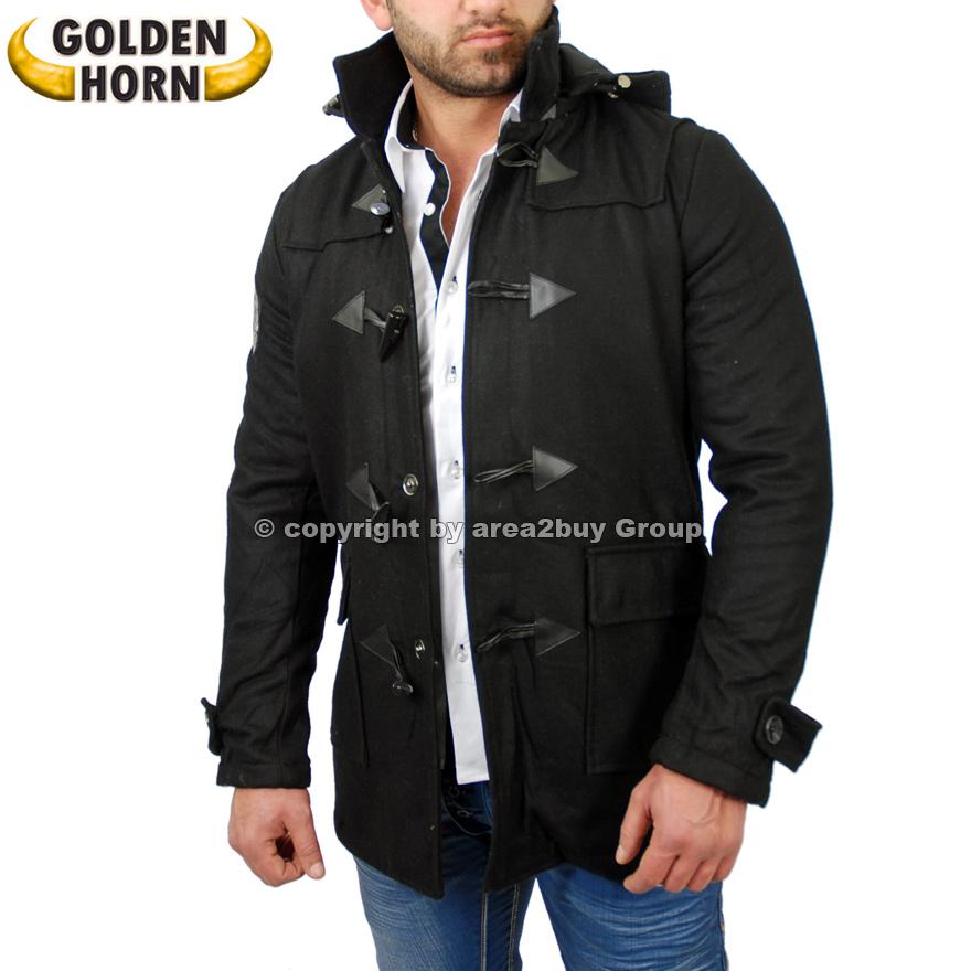 golden horn duffle warme winter jacke parker herren mantel trenchcoat gh 707 ebay. Black Bedroom Furniture Sets. Home Design Ideas