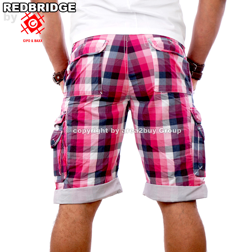 rbc by cipo baxx clubwear bermuda karo shorts cargo chino kurze hose rb 1201. Black Bedroom Furniture Sets. Home Design Ideas