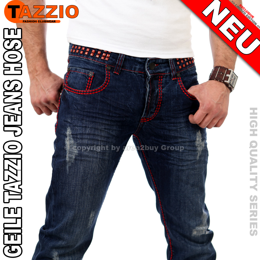 Rote jeans hose