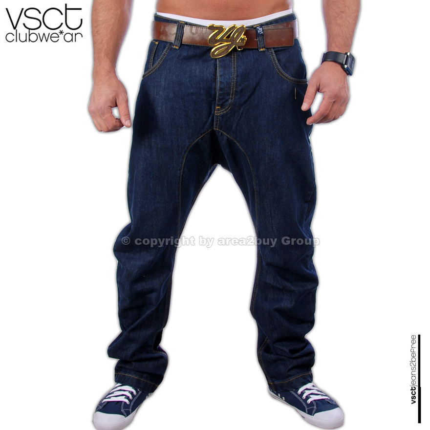 brandneue vsct jeans hose d blue tiefer schritt v 0043 ebay. Black Bedroom Furniture Sets. Home Design Ideas