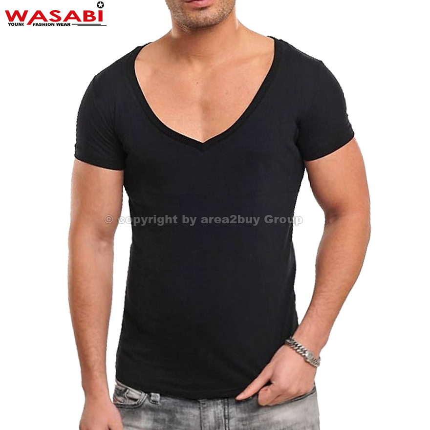 wasabi clubwear extra tiefer v ausschnitt party v neck t. Black Bedroom Furniture Sets. Home Design Ideas