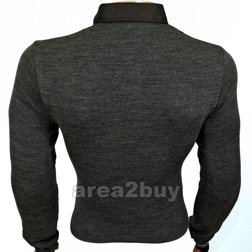 kickdown hemd pullover pulli anthrazit 1285 ebay. Black Bedroom Furniture Sets. Home Design Ideas