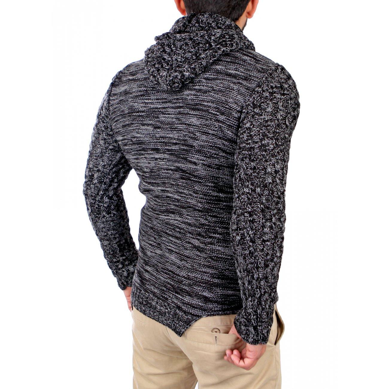 carisma herren kapuzen strickjacke buttoned mit zipper. Black Bedroom Furniture Sets. Home Design Ideas
