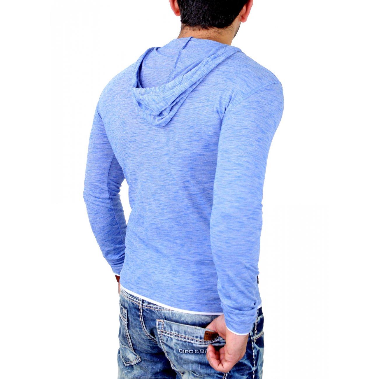 carisma langarmshirt herren slim fit longsleeve mit kapuze. Black Bedroom Furniture Sets. Home Design Ideas