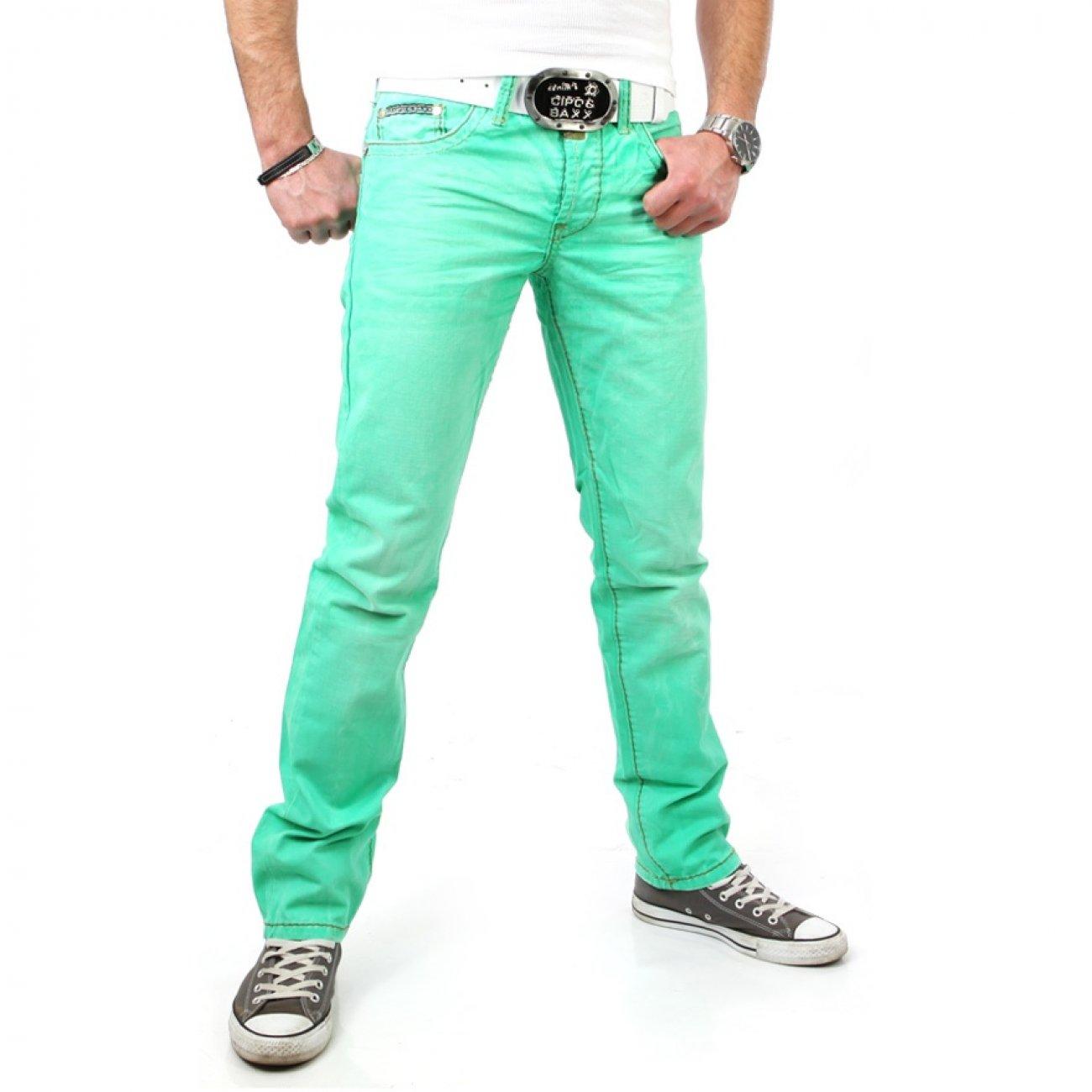 cipo baxx jeans herren hose gr n c 992 g nstig kaufen. Black Bedroom Furniture Sets. Home Design Ideas