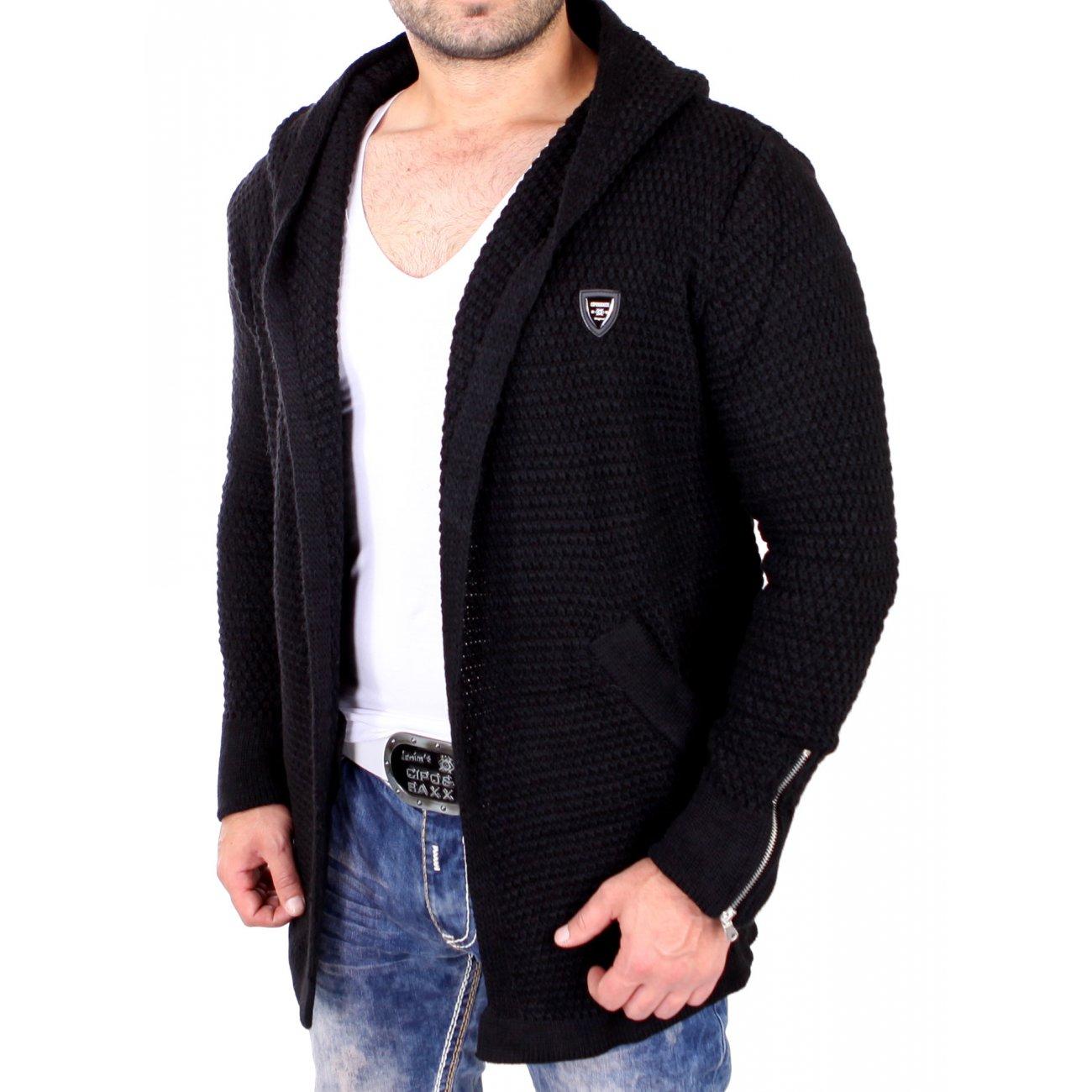 cardigan kapuze herren long sweater jacket. Black Bedroom Furniture Sets. Home Design Ideas