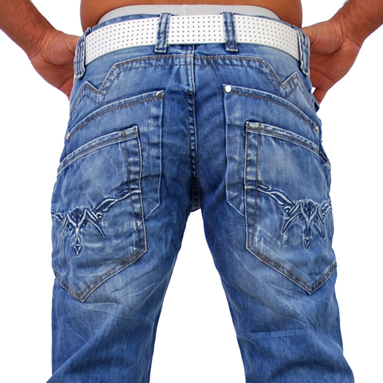 cipo baxx used look jeans hose c 842 blau g nstig. Black Bedroom Furniture Sets. Home Design Ideas