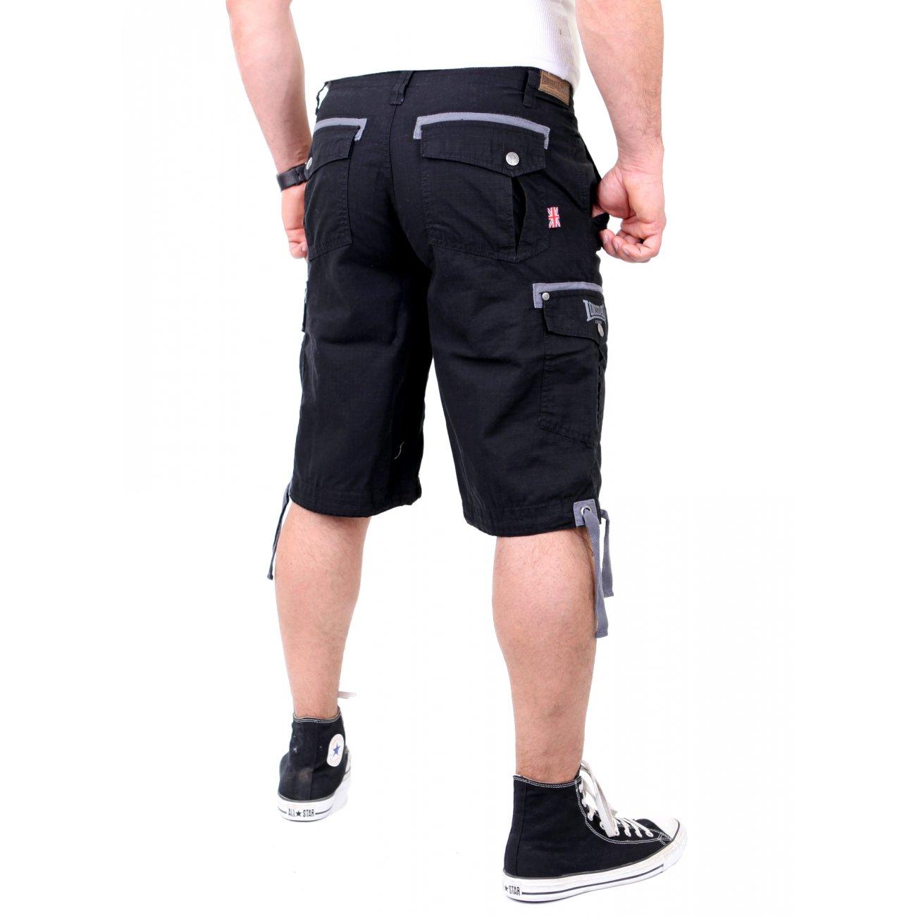 lonsdale cargo bermuda shorts schwarz seaton g nstig. Black Bedroom Furniture Sets. Home Design Ideas