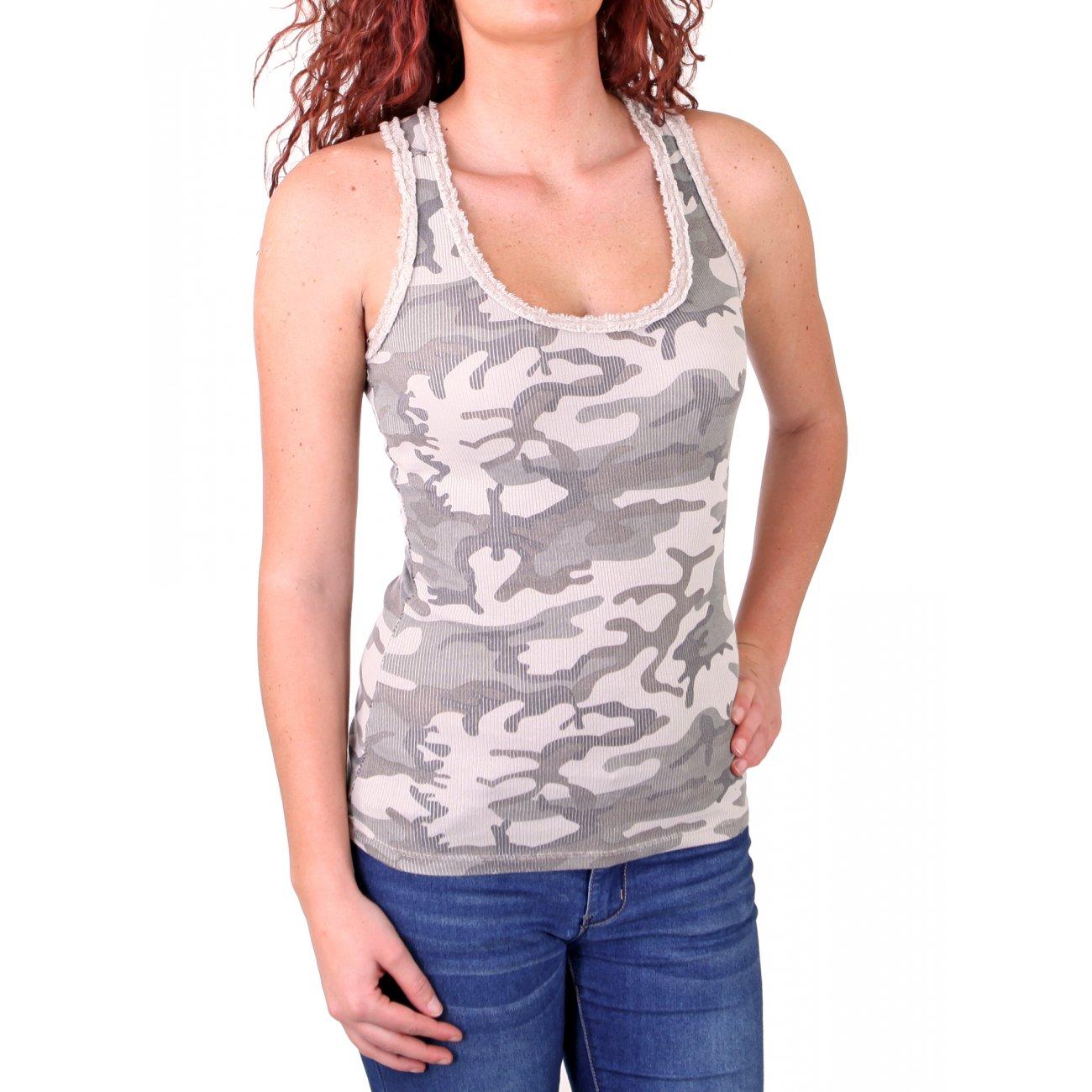 madonna top camouflage tank top rundhals g nstig kaufen. Black Bedroom Furniture Sets. Home Design Ideas