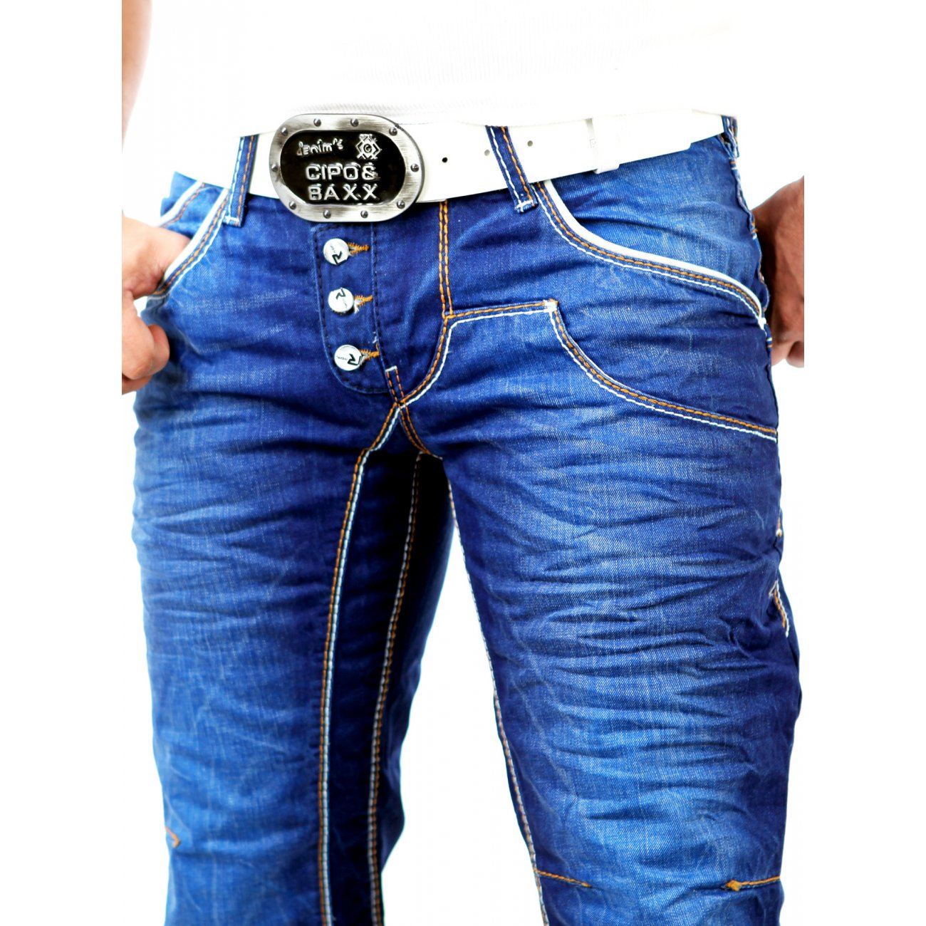 jeans hosen jeanshosen r neal herren used look dicke naht. Black Bedroom Furniture Sets. Home Design Ideas