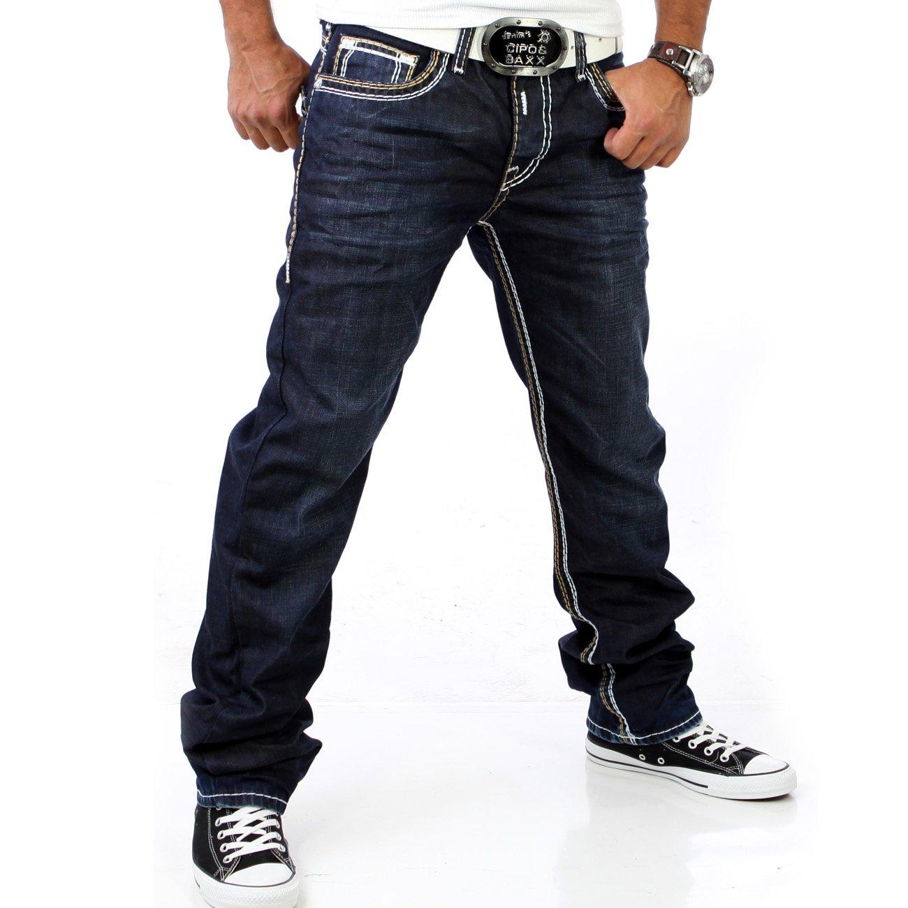 r neal jeans herren blau mit dicke naht 7443 3 g nstig. Black Bedroom Furniture Sets. Home Design Ideas