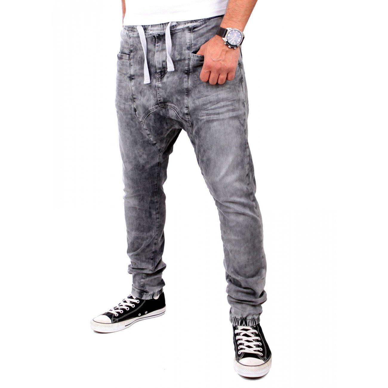 jogg jeans von rerock jeans jogginghose low crotch grau. Black Bedroom Furniture Sets. Home Design Ideas