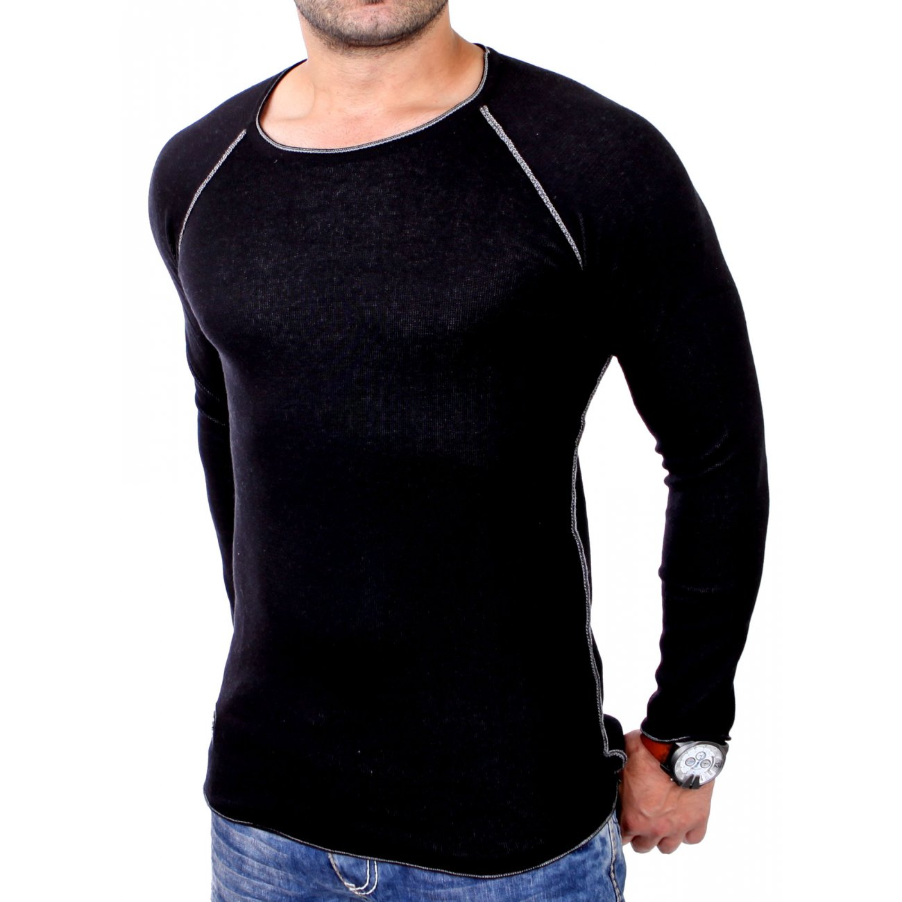 redbridge sweatshirt herren rundhals slim fit pullover. Black Bedroom Furniture Sets. Home Design Ideas