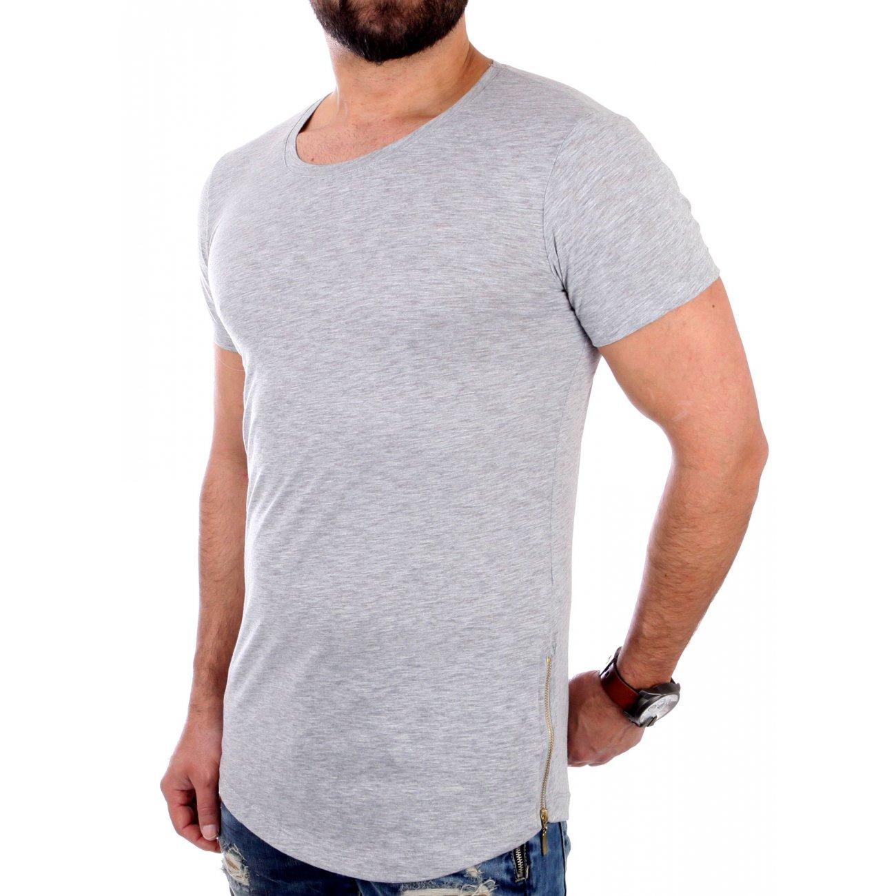redbridge t shirt herren basic zipped long style rb 41289. Black Bedroom Furniture Sets. Home Design Ideas