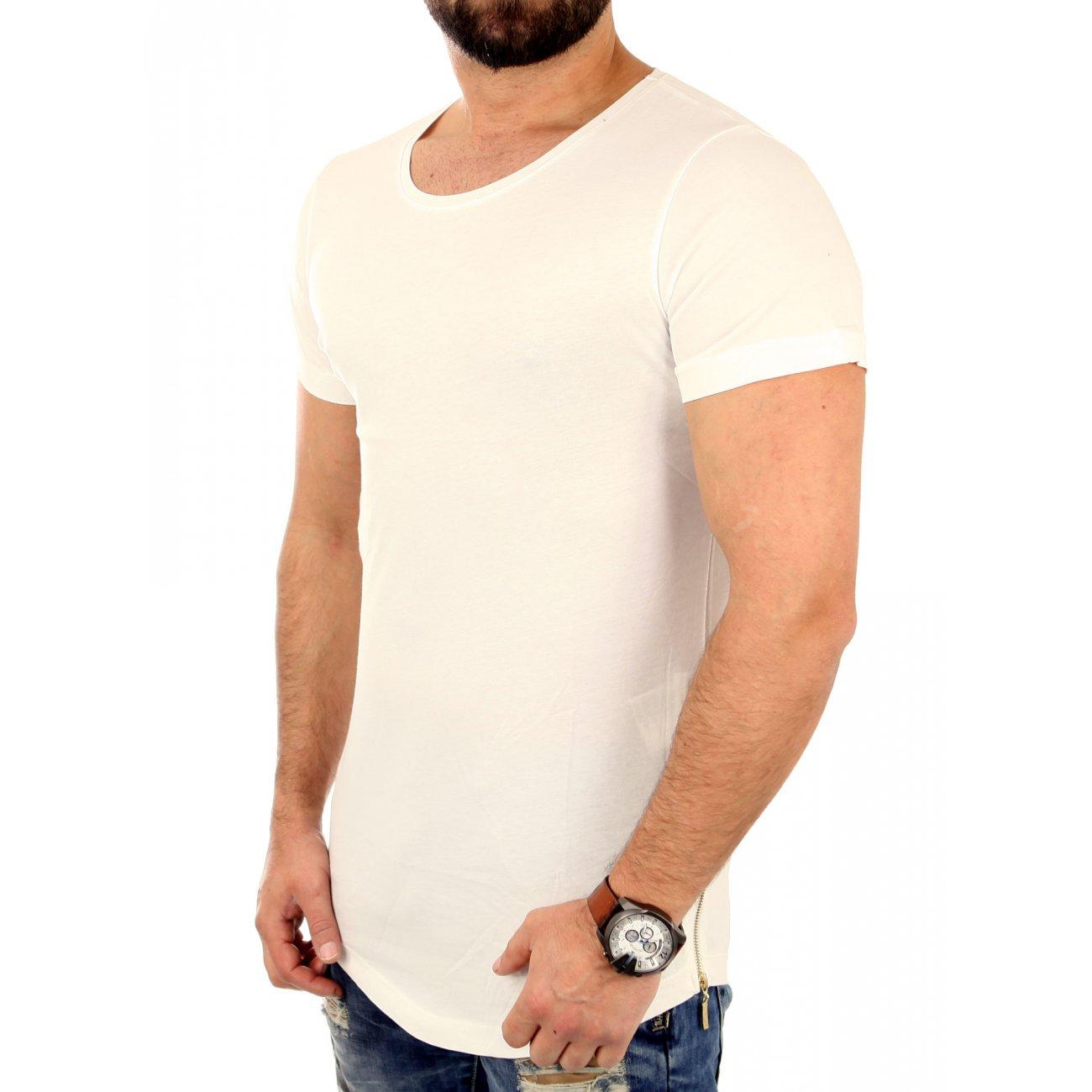 redbridge t shirt herren basic zipped long style kurzarm shirt rb 412. Black Bedroom Furniture Sets. Home Design Ideas