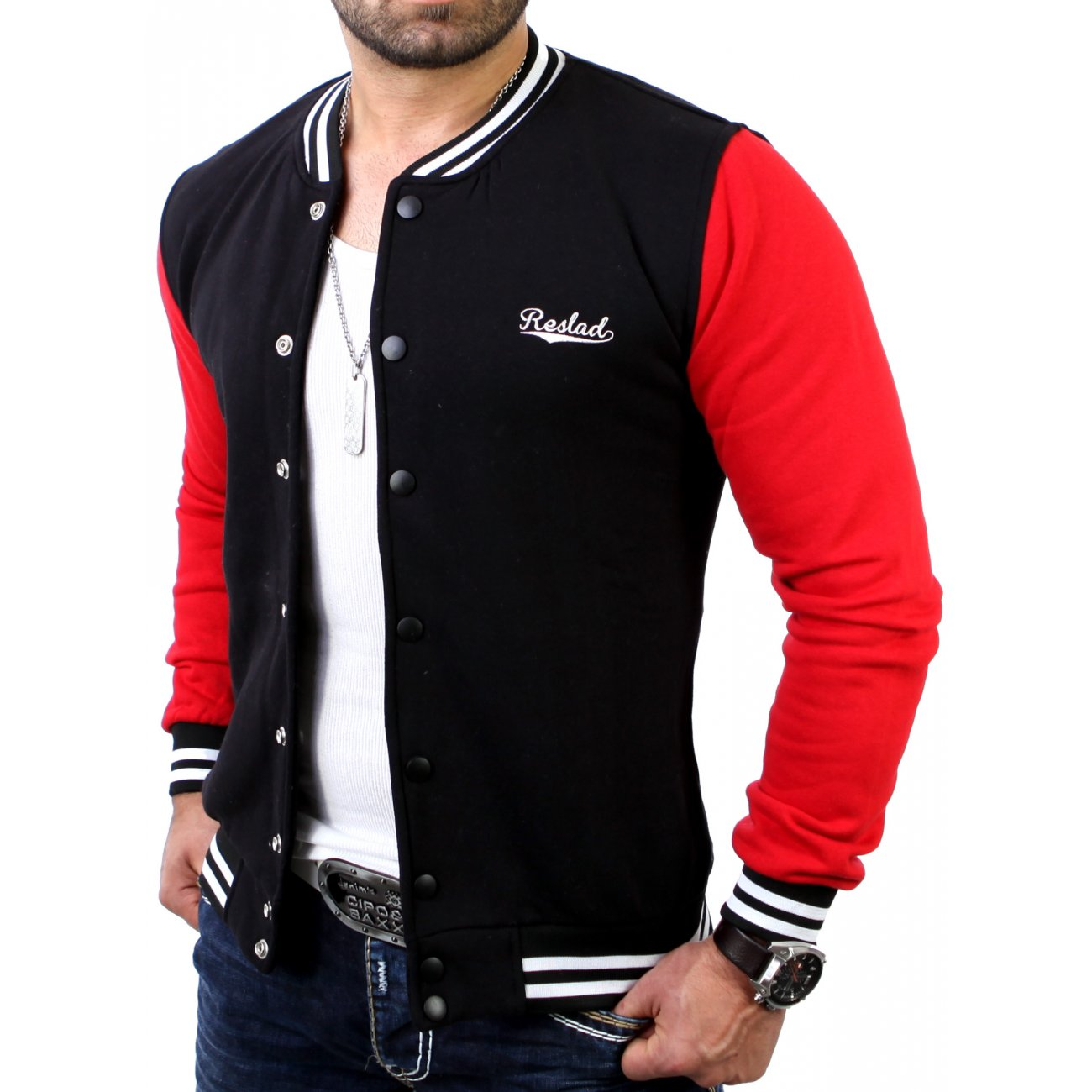 College jacke herren authentic reslad college jacken online - Rote college jacke ...