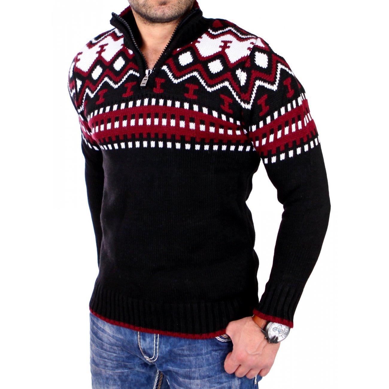 reslad norweger pullover f r herren mit zipper g nstig. Black Bedroom Furniture Sets. Home Design Ideas