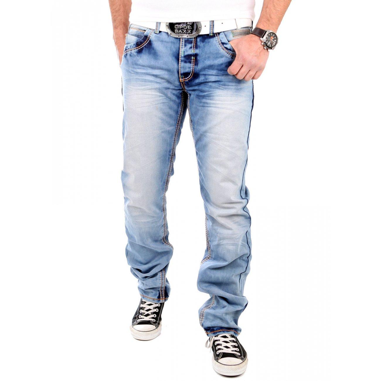 reslad jeans herren vintage look regular fit hellblau. Black Bedroom Furniture Sets. Home Design Ideas