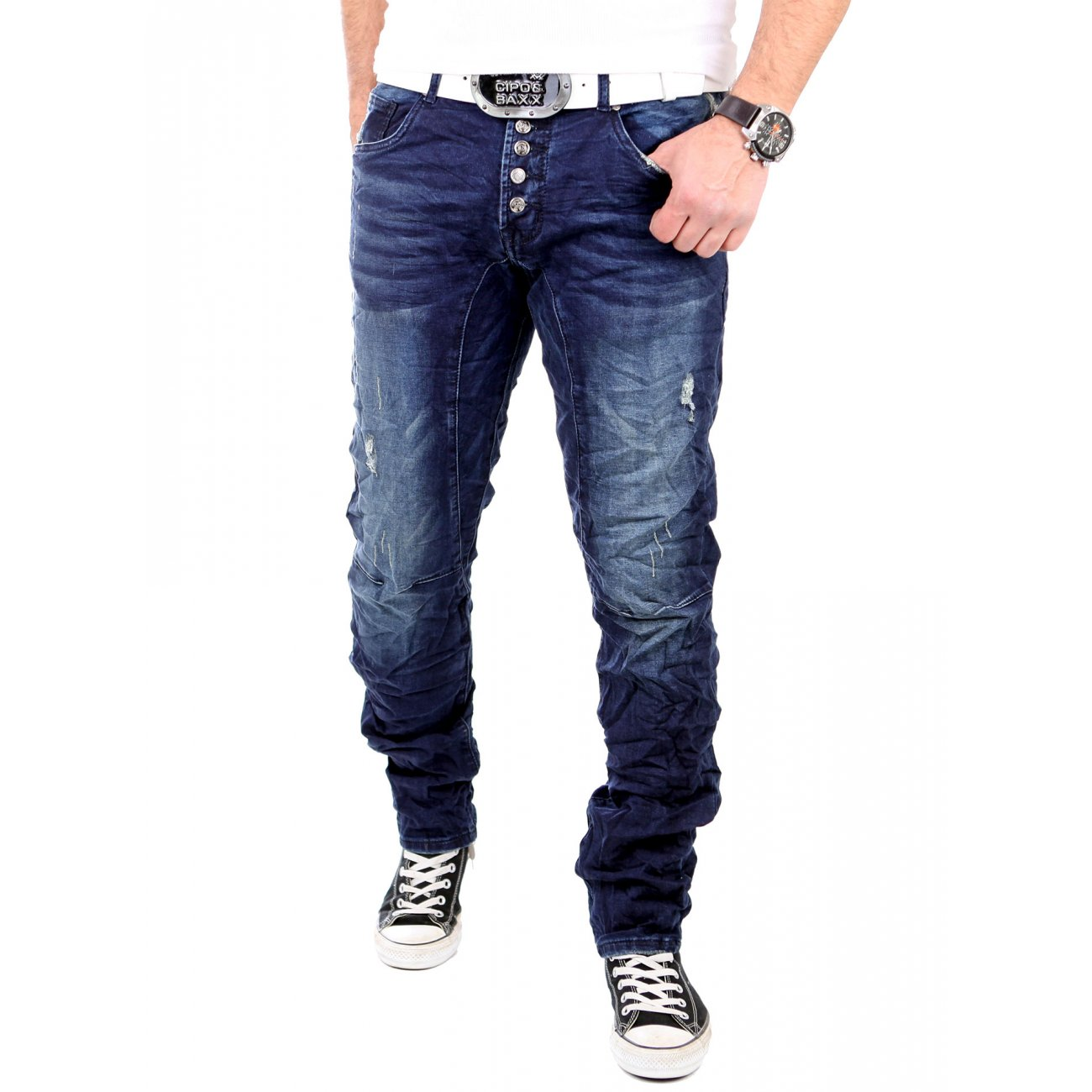 reslad jogg jeans herren used look jogging jeans blau. Black Bedroom Furniture Sets. Home Design Ideas