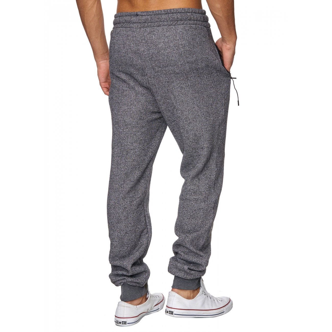 reslad jogging hose herren melange look sweatpants sport hose. Black Bedroom Furniture Sets. Home Design Ideas