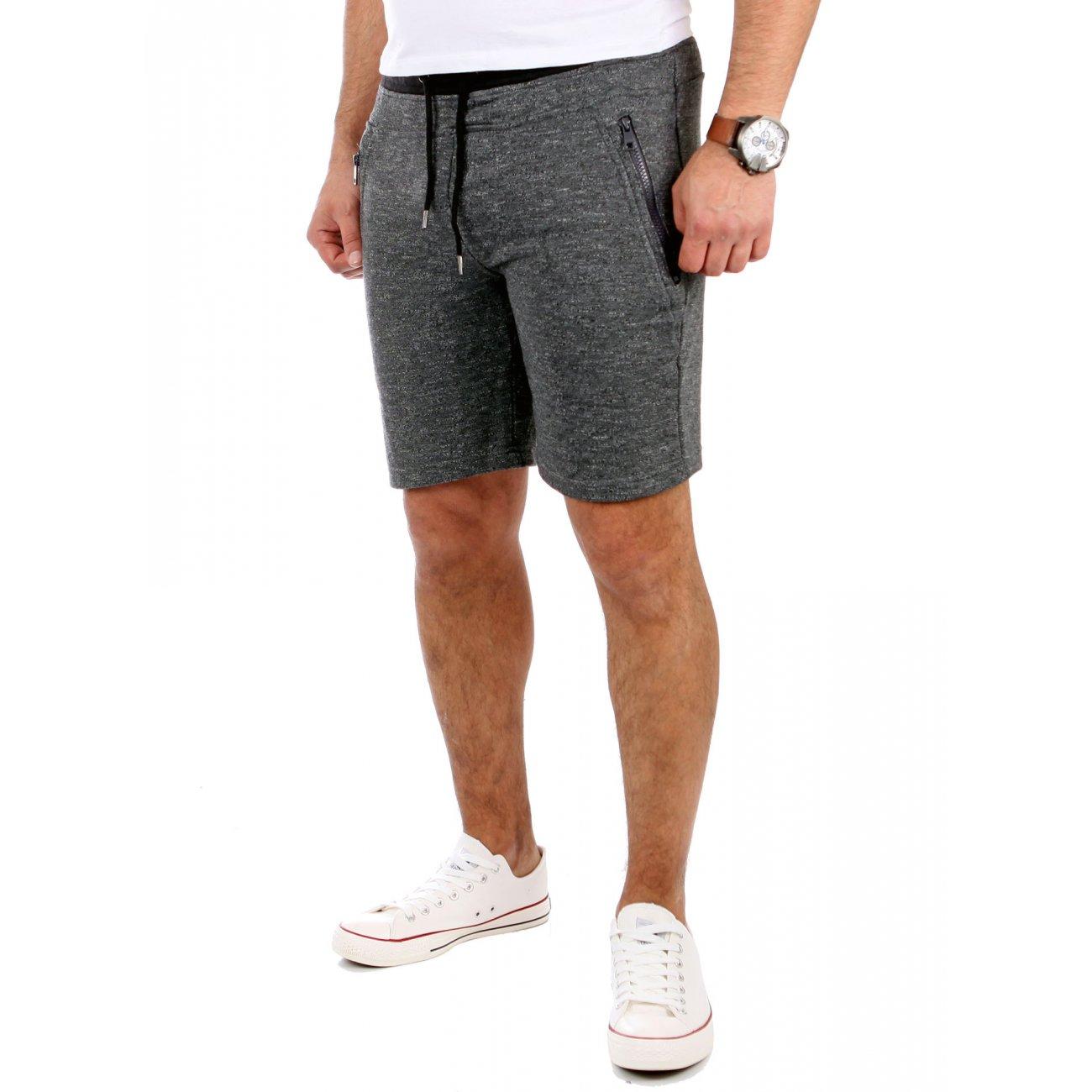 reslad shorts melange look sporthose herren kurz. Black Bedroom Furniture Sets. Home Design Ideas