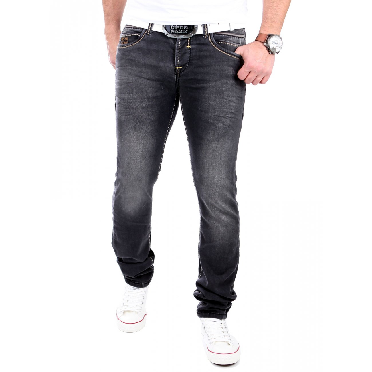 rusty neal jogg jeans used look hose rn 7627 4 schwarz. Black Bedroom Furniture Sets. Home Design Ideas
