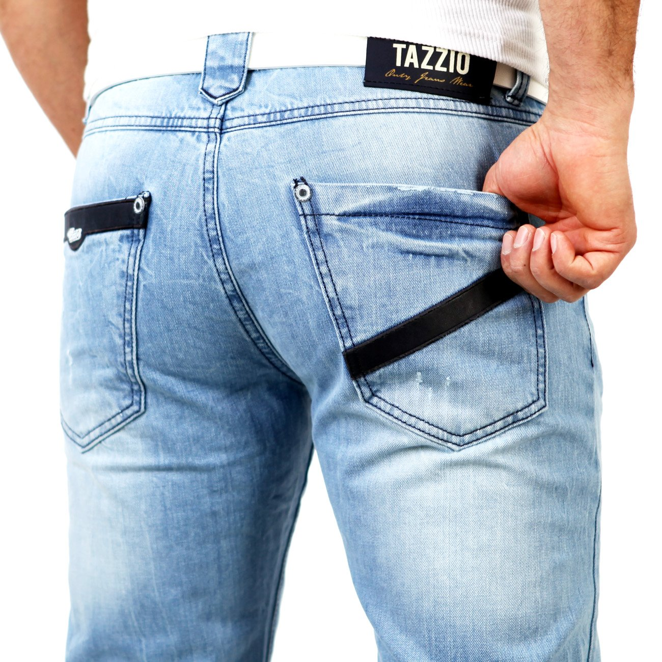 herren jeans hellblau tazzio 5155 jeans herren g nstig. Black Bedroom Furniture Sets. Home Design Ideas