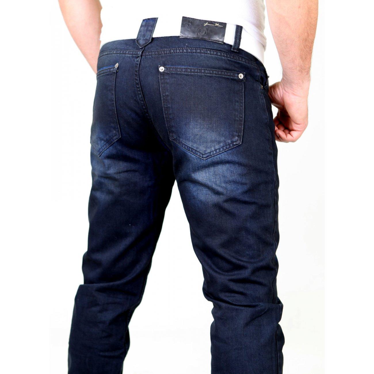 tazzio jeans hose vintage dark washed denim jeans online. Black Bedroom Furniture Sets. Home Design Ideas