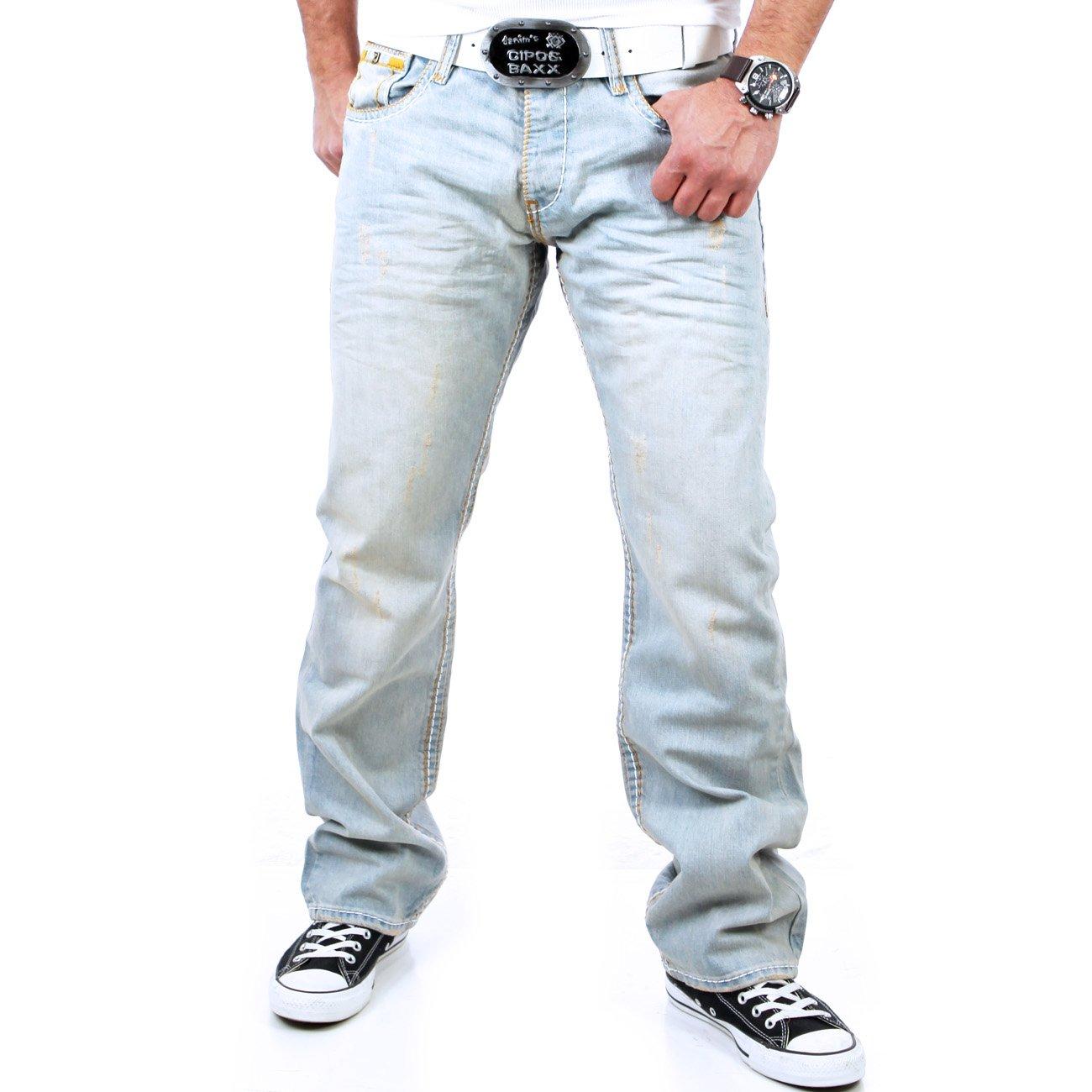 tazzio herren used look dicke naht jeans hose tz 5165 blau. Black Bedroom Furniture Sets. Home Design Ideas