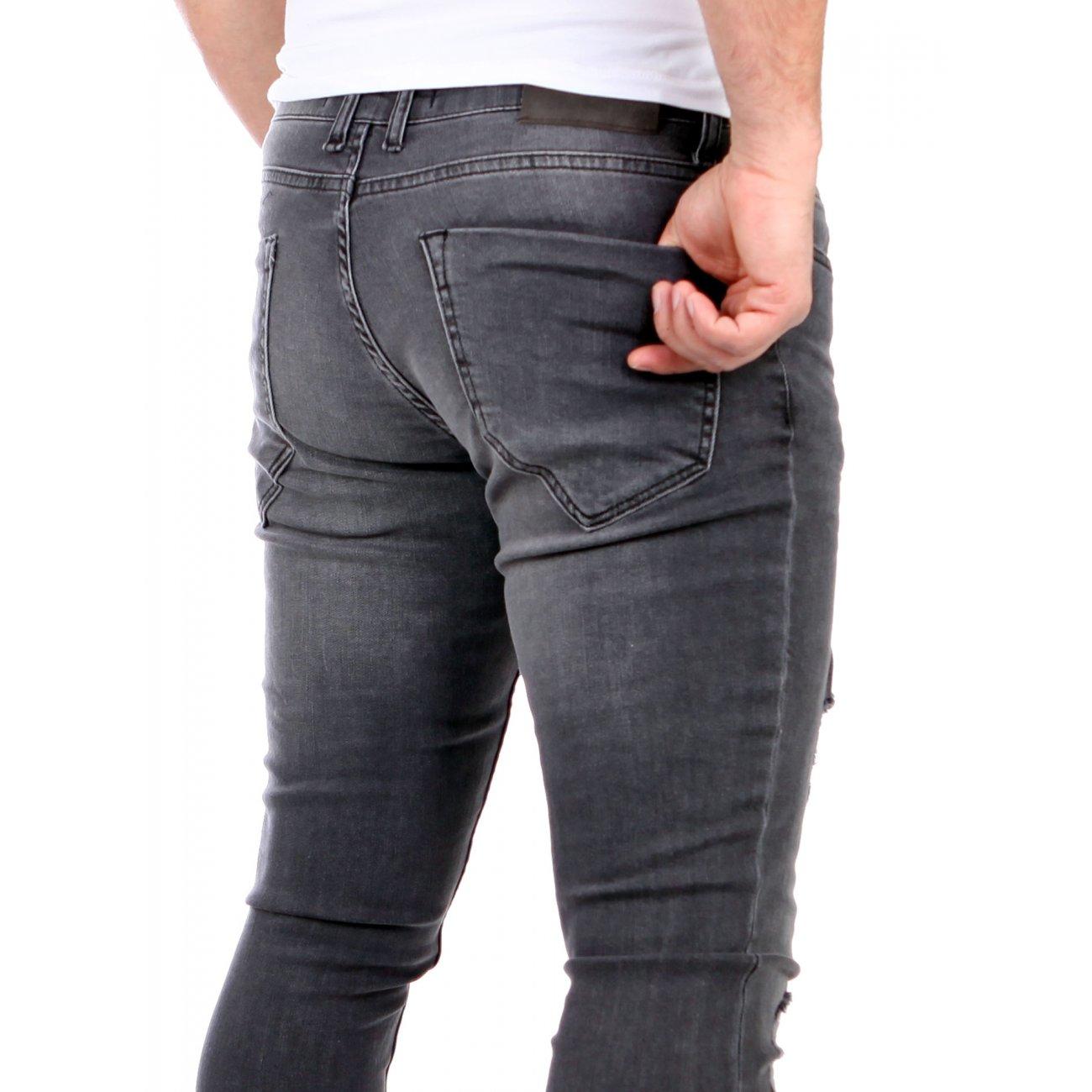 reslad jeans herren destroyed look slim fit strech jeans. Black Bedroom Furniture Sets. Home Design Ideas