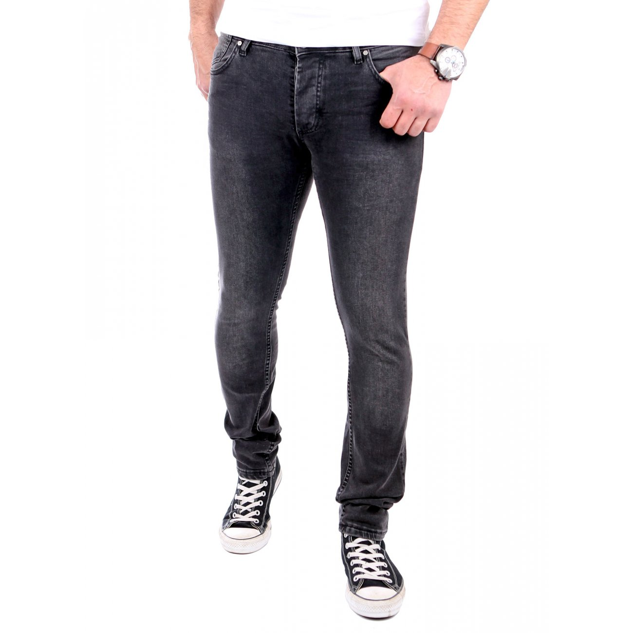 tazzio jeans used look slim fit strech tz 16519 schwarz. Black Bedroom Furniture Sets. Home Design Ideas