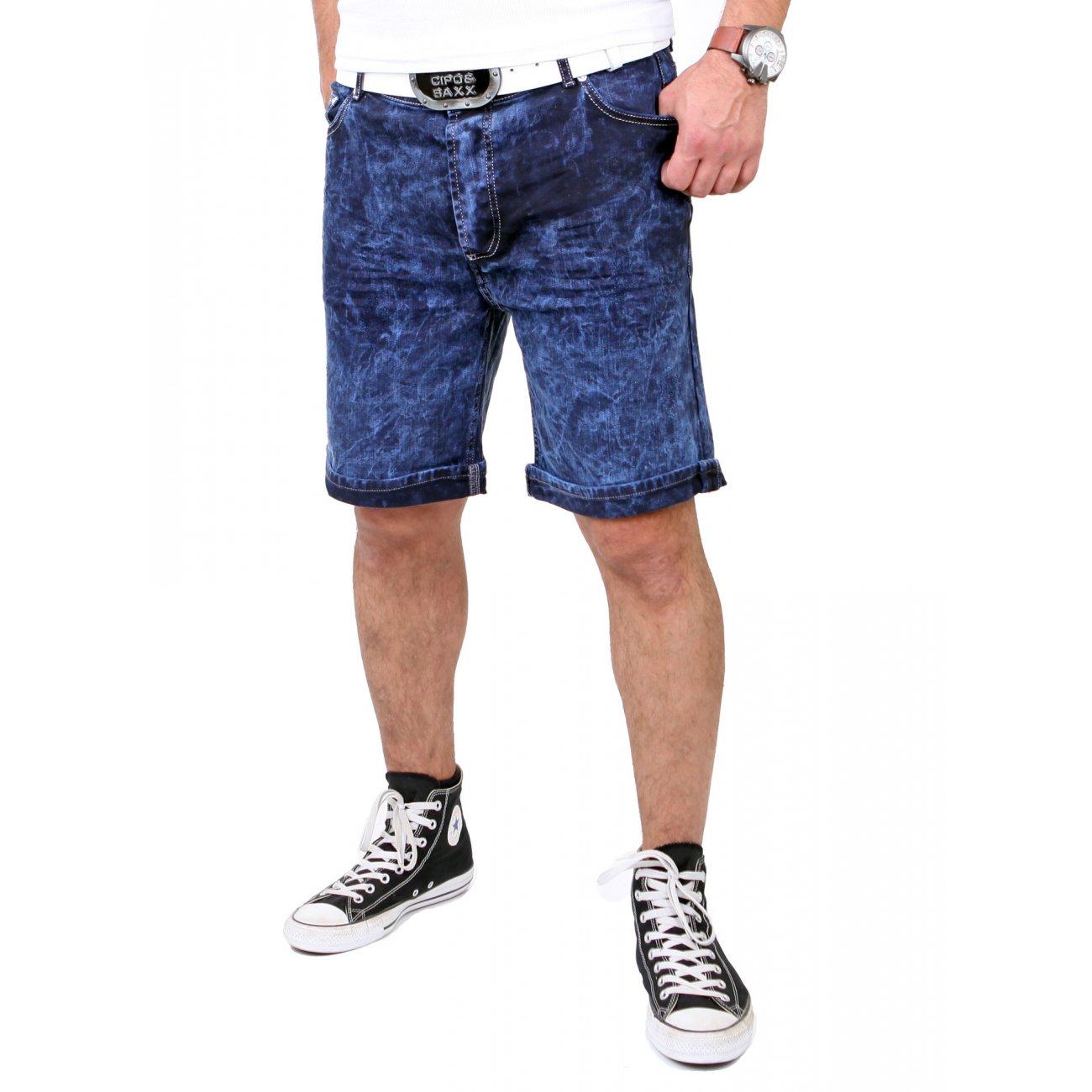 tazzio jeans short moon washed blau capri shorts g nstig. Black Bedroom Furniture Sets. Home Design Ideas