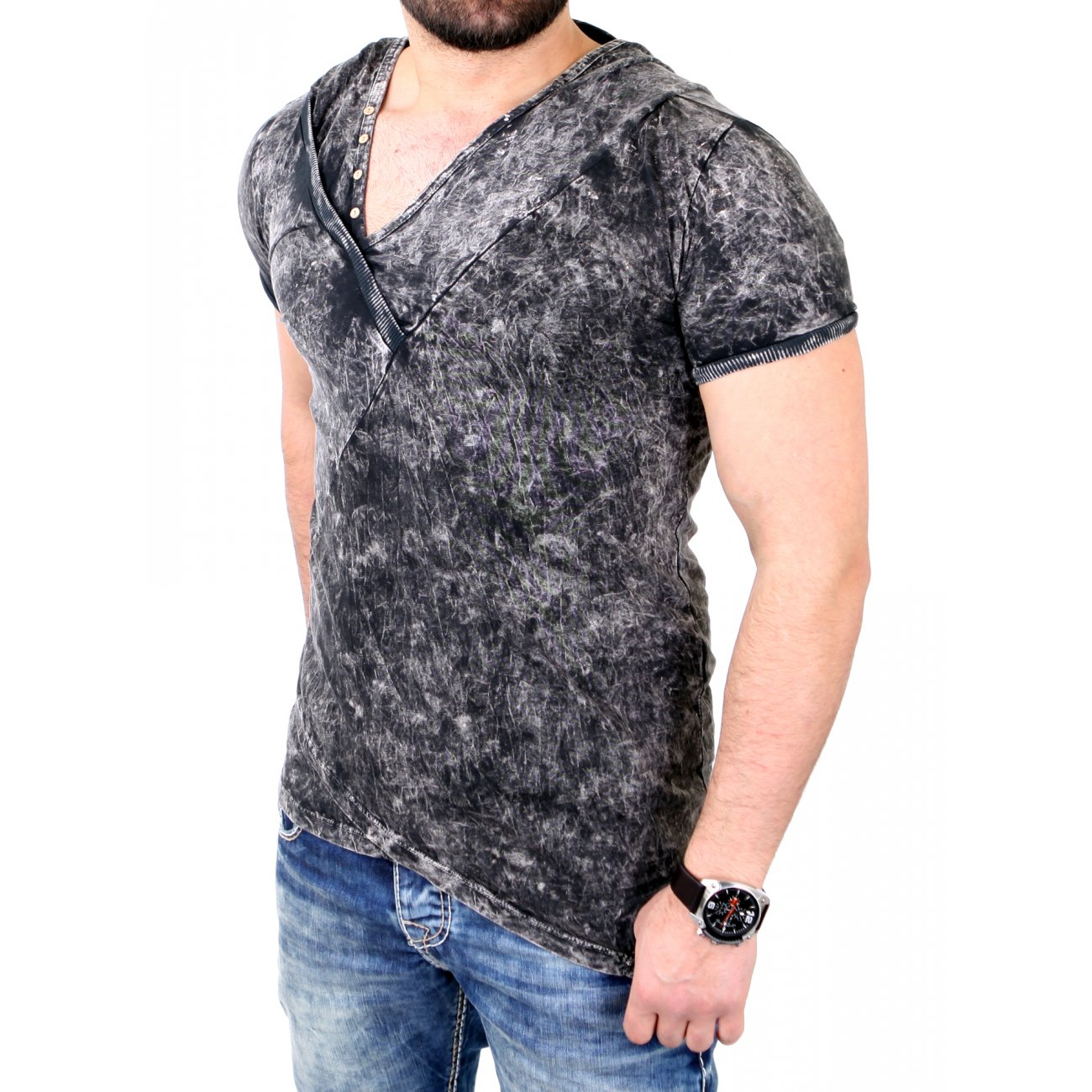 t shirt hooded tazzio batik style shirts g nstig kaufen. Black Bedroom Furniture Sets. Home Design Ideas