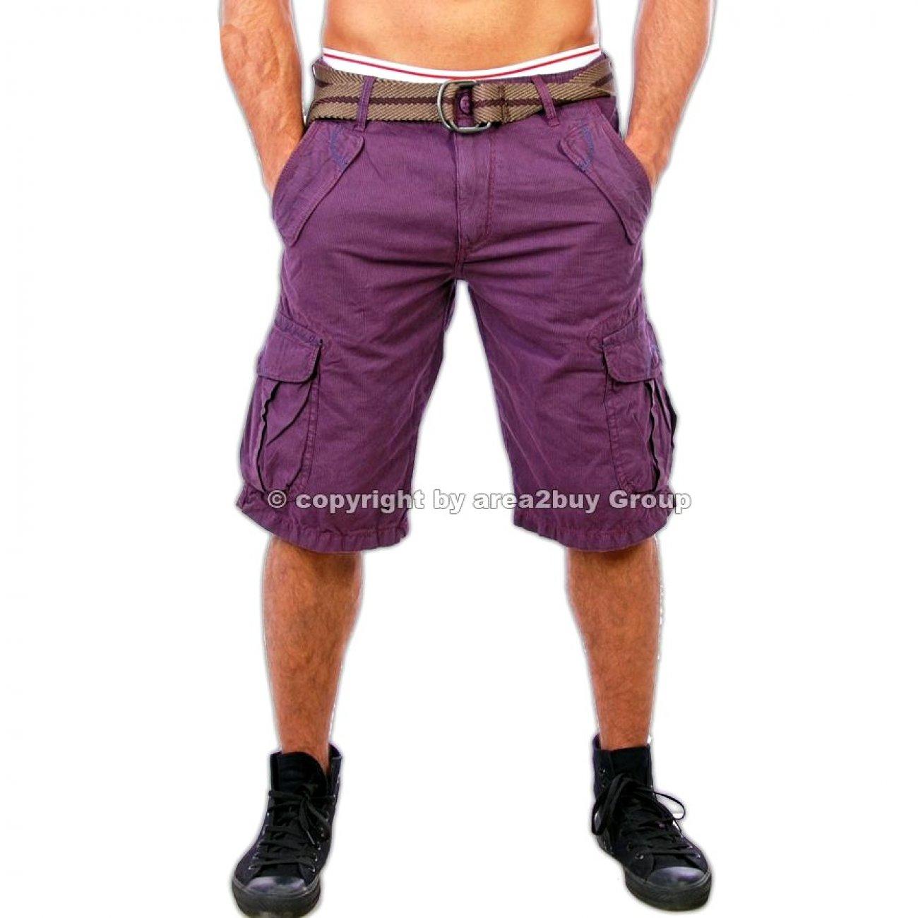 shorts herren lila tazzio 1701 bermuda shorts m nner. Black Bedroom Furniture Sets. Home Design Ideas