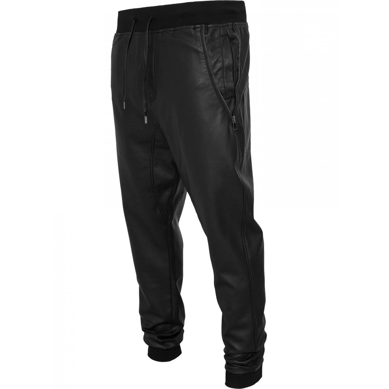urban classics kunstlederhose deep crotch pants tb 826 schwarz. Black Bedroom Furniture Sets. Home Design Ideas