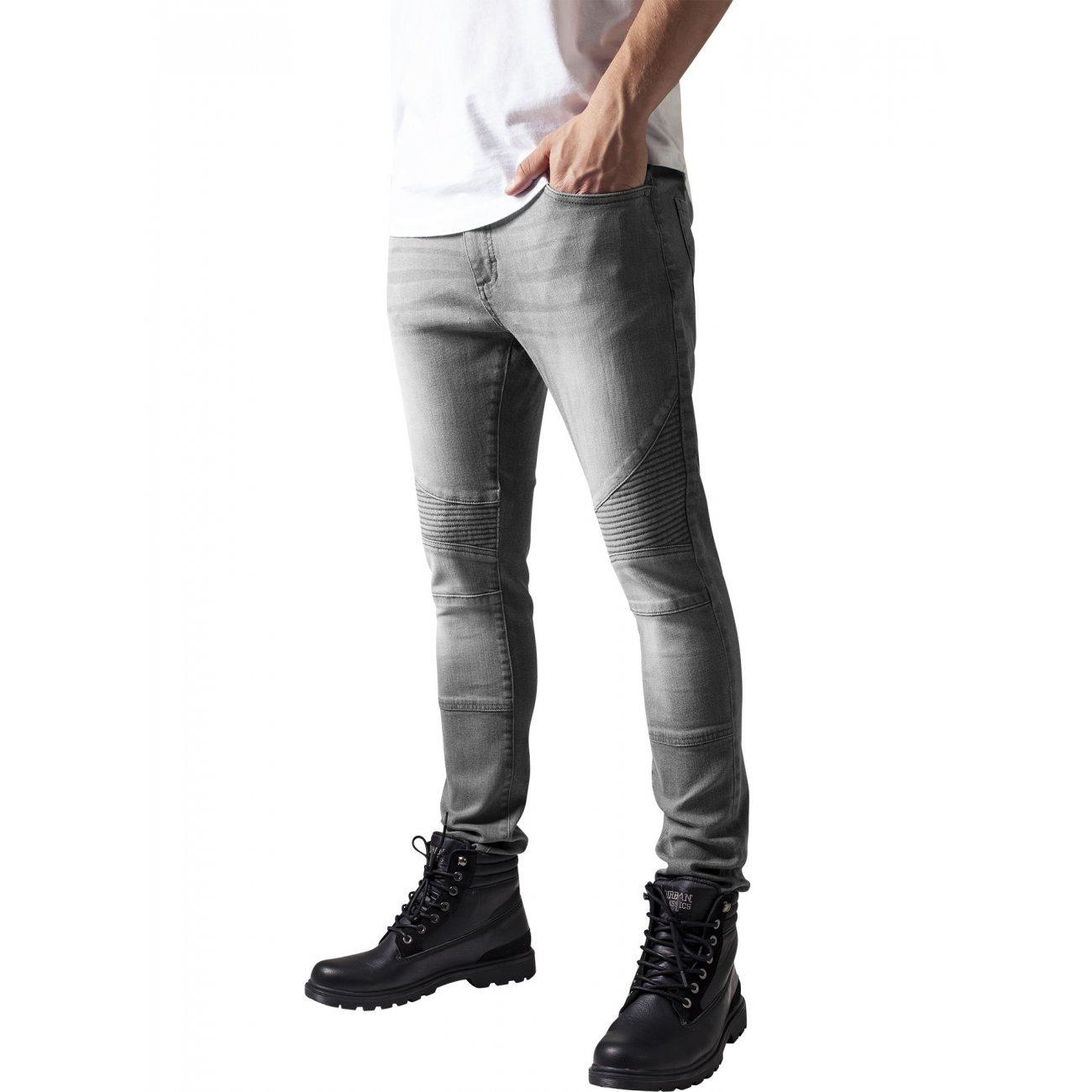 urban classics hose herren slim fit biker jeans tb 1436. Black Bedroom Furniture Sets. Home Design Ideas