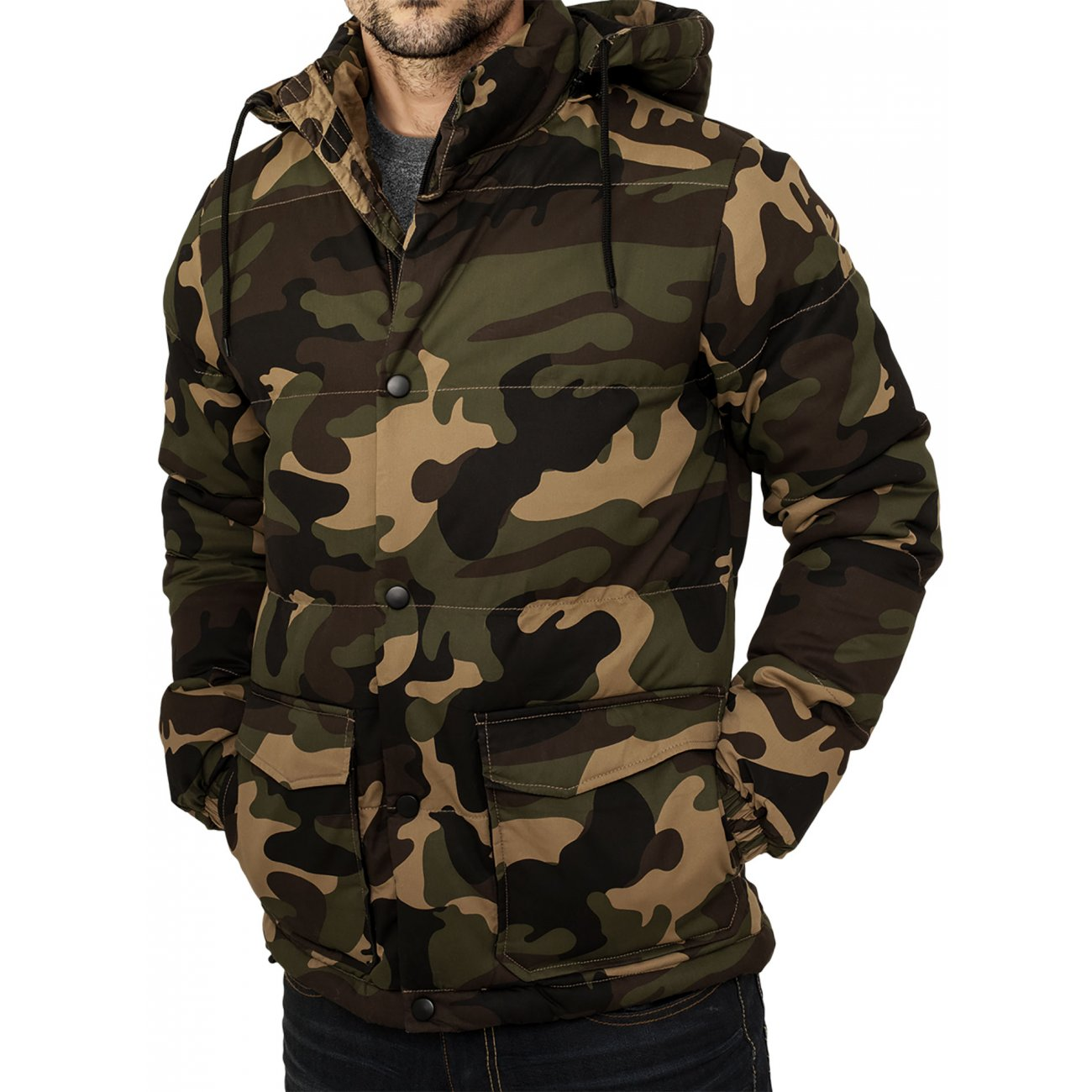 urban classics camouflage jacke herren winterjacke tb 627