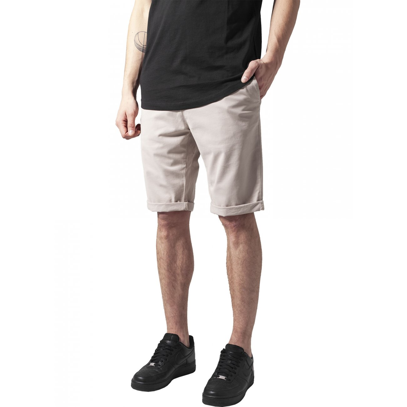 urban classics chino hose kurz herren turnup shorts tb 1264. Black Bedroom Furniture Sets. Home Design Ideas