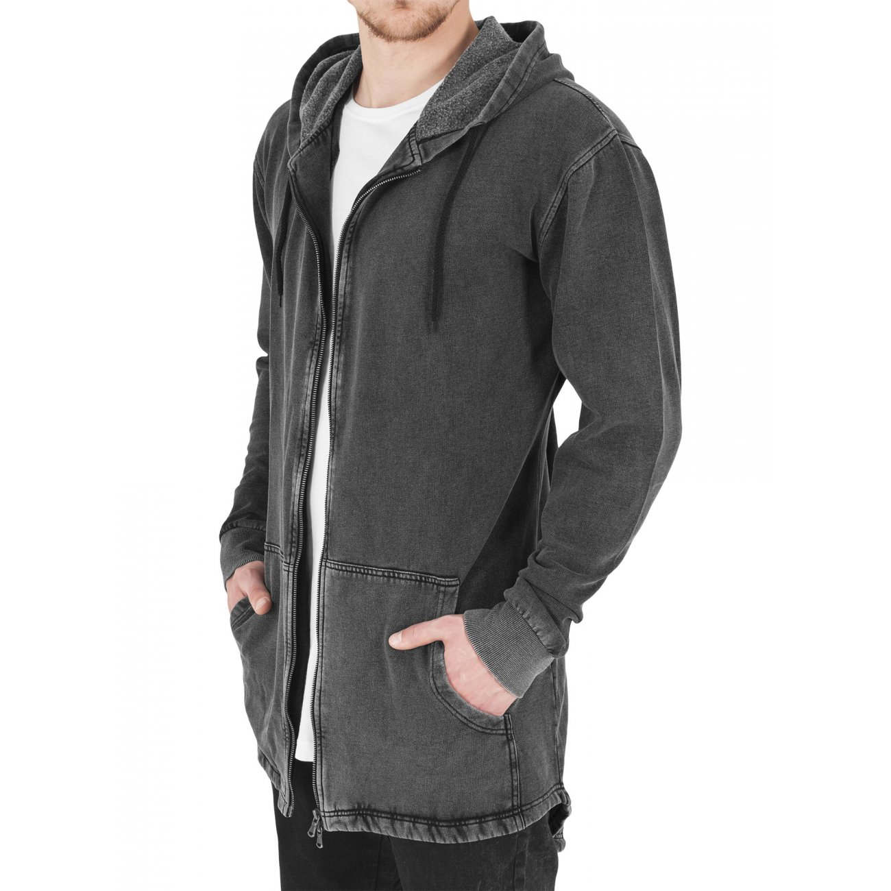 urban classics sweatparka herren acid washed sweatjacke tb. Black Bedroom Furniture Sets. Home Design Ideas