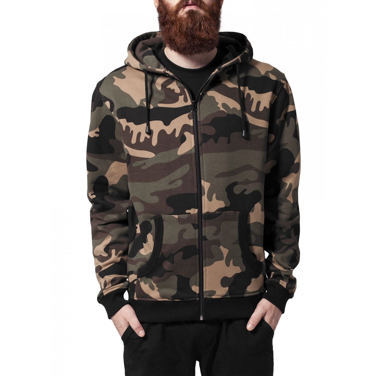 urban classics camouflage sweatjacke herren zip hoody tb. Black Bedroom Furniture Sets. Home Design Ideas