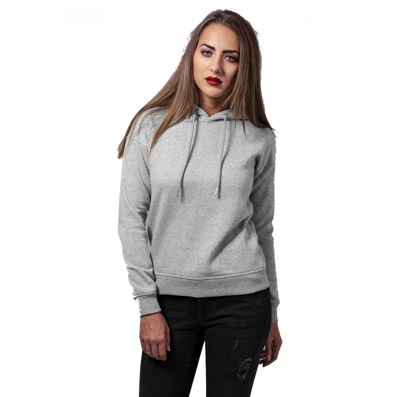 urban classics sweatshirt damen kapuzen pullover basic hoodie. Black Bedroom Furniture Sets. Home Design Ideas