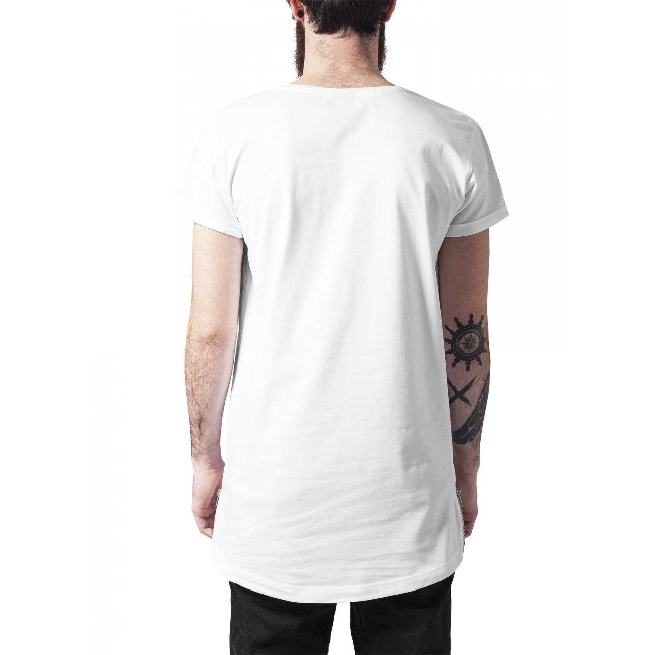 urban classics t shirt long shaped side zip shirt tb 1225. Black Bedroom Furniture Sets. Home Design Ideas