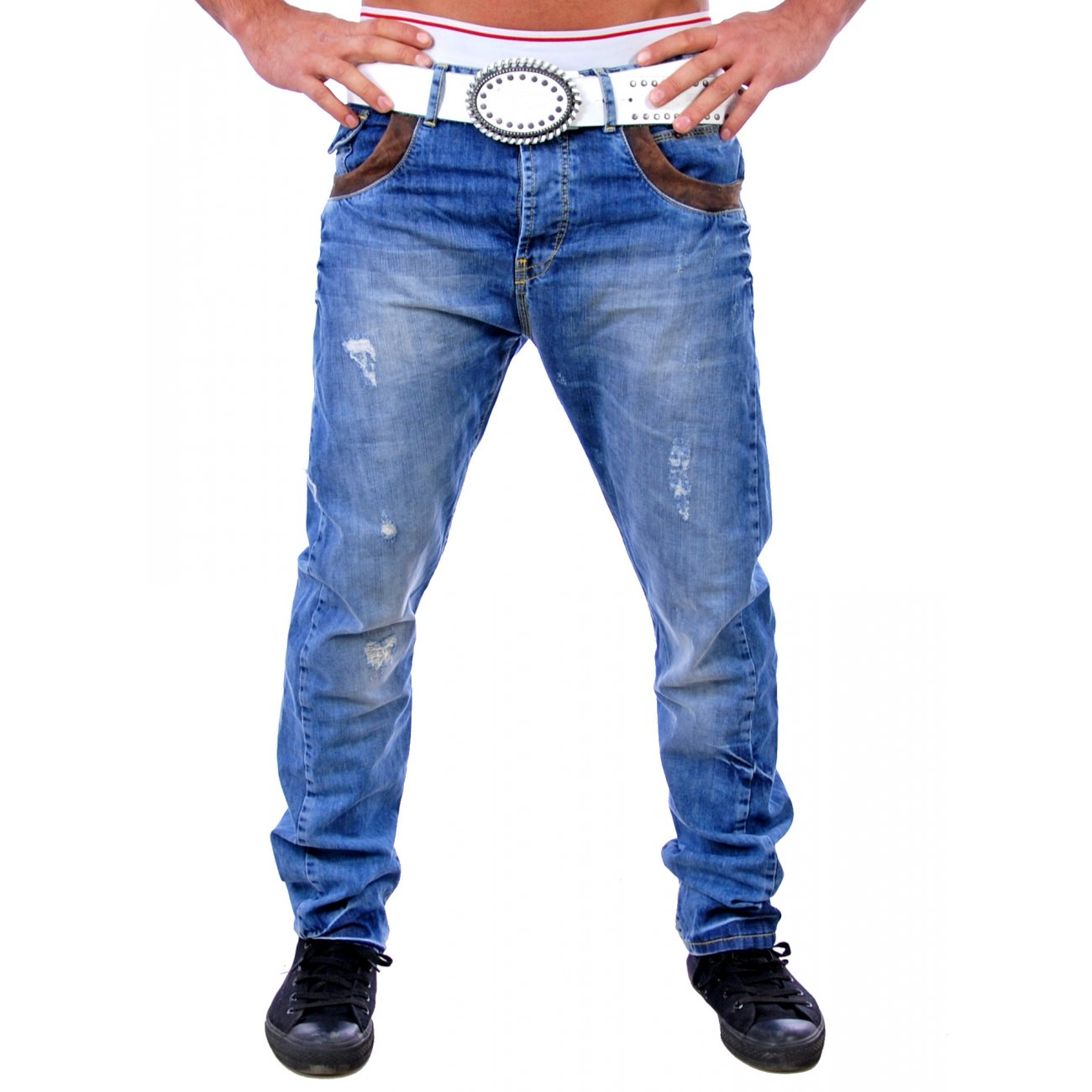 vsct jeans blau herren hose patched jeanshosen kaufen. Black Bedroom Furniture Sets. Home Design Ideas