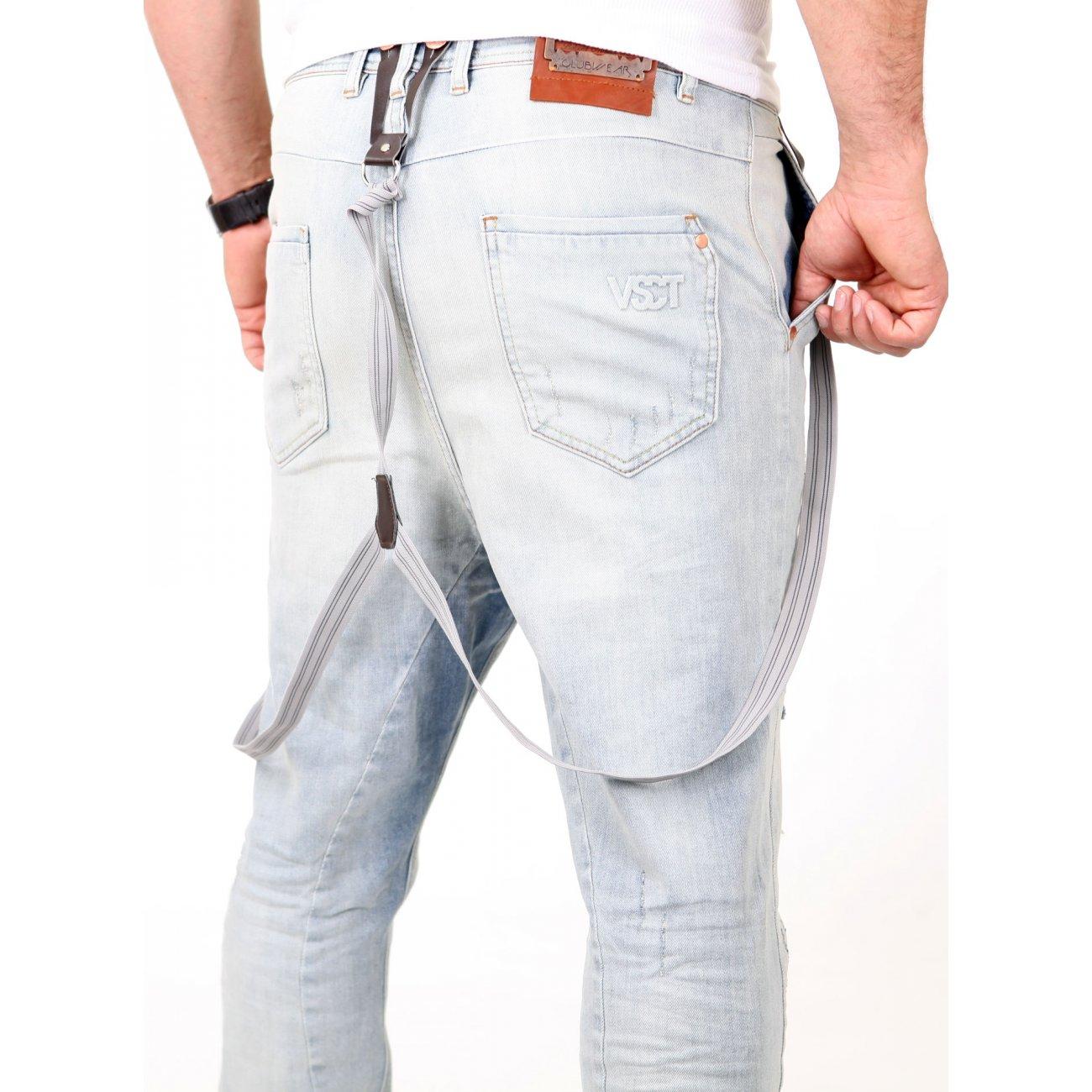 vsct jeans herren destroyed brad slim fit mit hosentr ger. Black Bedroom Furniture Sets. Home Design Ideas