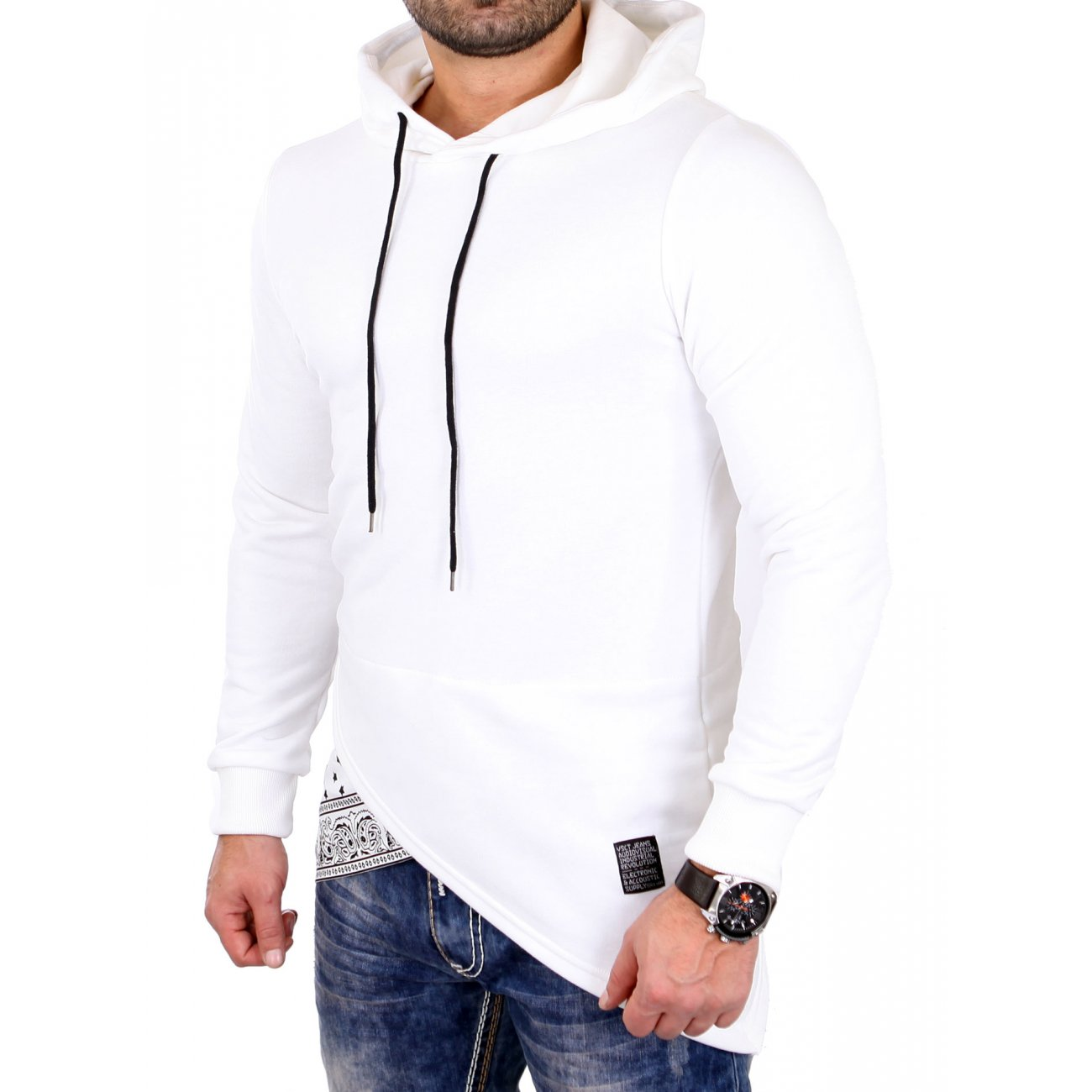 oversize pullover herren hooded bandana vsct sweatshirt. Black Bedroom Furniture Sets. Home Design Ideas