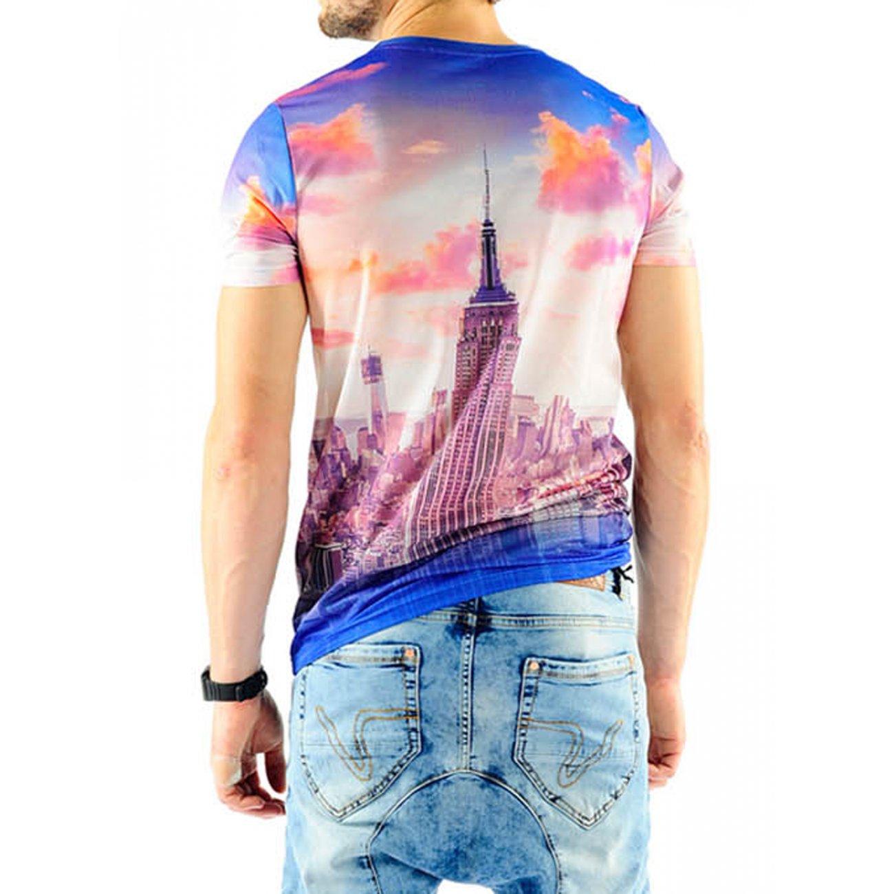 T shirt herren vsct manhatten mesh full print g nstig for Full t shirt printing